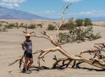 Cute Girl in Dunes in Death Valley