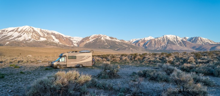 Camping near Mono Lake